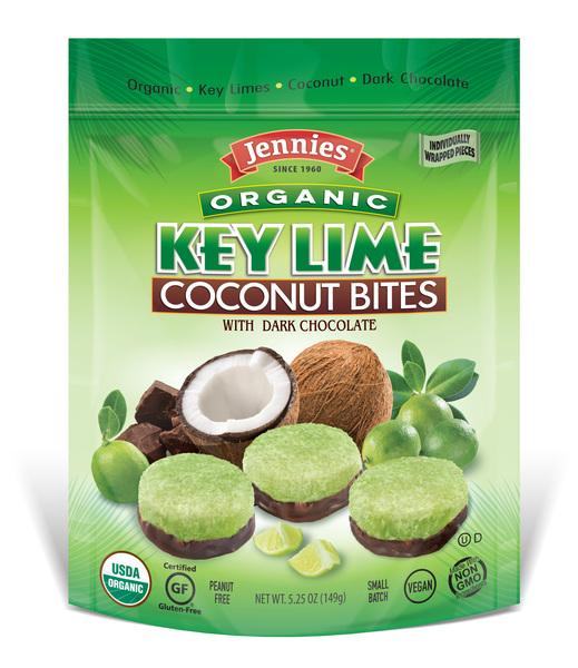 KEY LIME ORGANIC COCONUT BITES WITH DARK CHOCOLATE