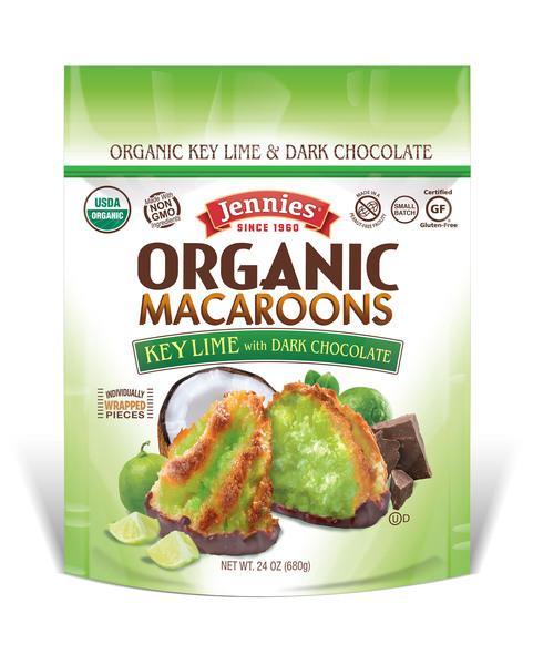 ORGANIC MACAROONS KEY LIME WITH DARK CHOCOLATE