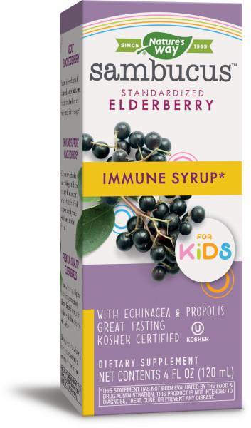 IMMUNE FOR KIDS SYRUP DIETARY SUPPLEMENT, ELDERBERRY