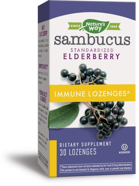 SAMBUCUS IMMUNE LOZENGES DIETARY SUPPLEMENT, ELDERBERRY