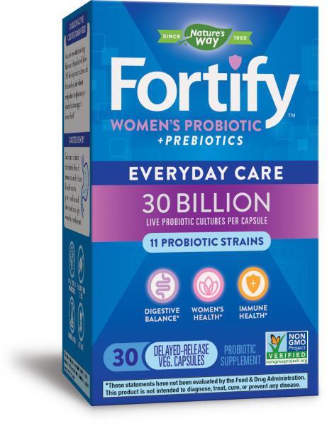 WOMEN'S PROBIOTIC + PREBIOTICS EVERYDAY CARE PROBIOTIC SUPPLEMENT, DELAYED- RELEASE VEG. CAPSULES