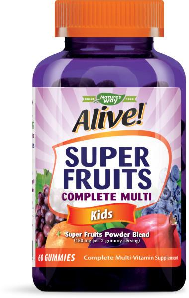 KIDS SUPER FRUITS POWDER BLEND COMPLETE MULTI-VITAMIN SUPPLEMENT GUMMIES