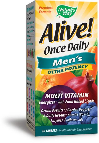 ONCE DAILY MEN'S ULTRA POTENCY ENERGIZER MULTI-VITAMIN SUPPLEMENT TABLETS