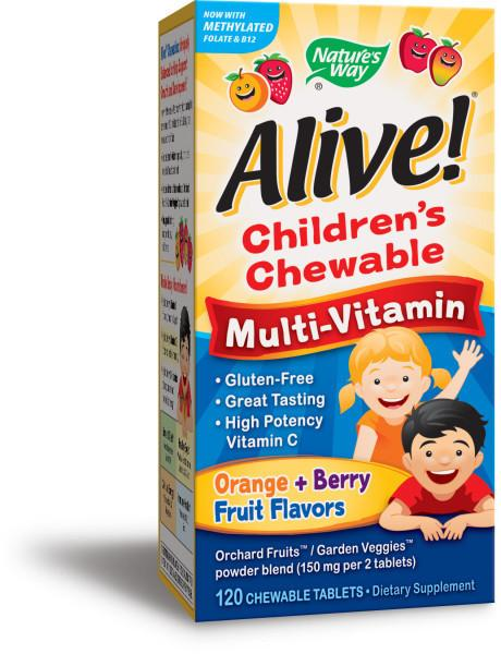 CHILDREN'S MULTI-VITAMIN DIETARY SUPPLEMENT CHEWABLE TABLETS ORANGE + BERRY FRUIT