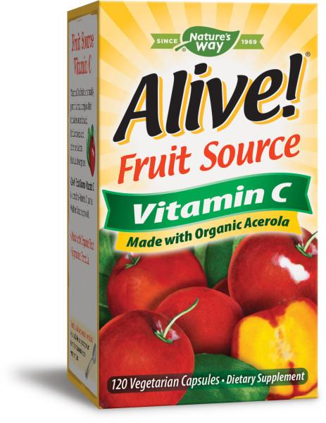 FRUIT SOURCE VITAMIN C MADE WITH ORGANIC ACEROLA DIETARY SUPPLEMENT CAPSULES