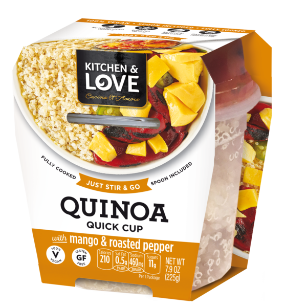 QUINOA QUICK CUP WITH MANGO & ROASTED PEPPER