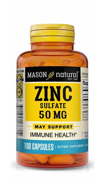 ZINC SULFATE 50 MG IMMUNE HEALTH DIETARY SUPPLEMENT CAPSULES