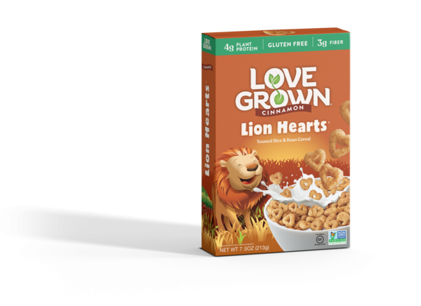 CINNAMON LION HEARTS TOASTED RICE & BEAN CEREAL