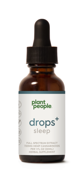 DROPS SLEEP FULL SPECTRUM EXTRACT 720MG HEMP CANNABINOIDS HERBAL SUPPLEMENT