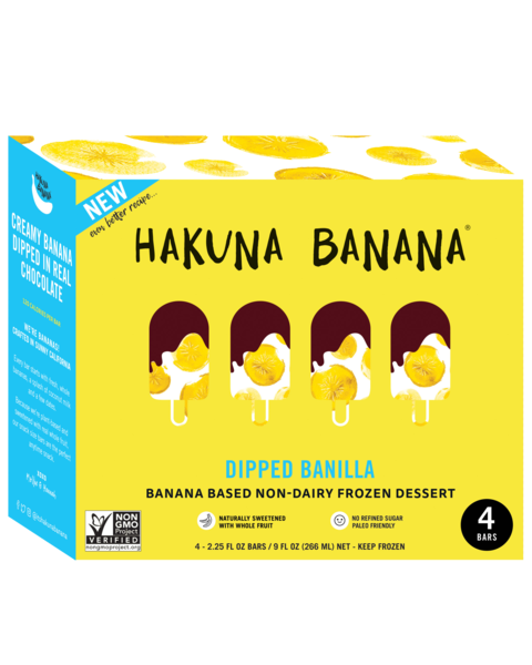 CREAMY BANANA DIPPED IN REAL CHOCOLATE FROZEN DESSERT