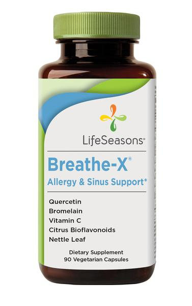 BREATHE-X ALLERGY & SINUS SUPPORT DIETARY SUPPLEMENT VEGETARIAN CAPSULES