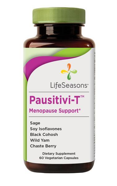 PAUSITIVI-T MENOPAUSE SUPPORT DIETARY SUPPLEMENT VEGETARIAN CAPSULES
