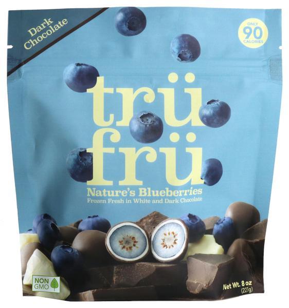 DARK CHOCOLATE NATURE'S BLUEBERRIES FROZEN FRESH IN WHITE & DARK CHOCOLATE