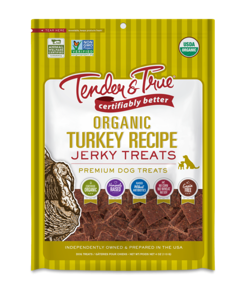 ORGANIC TURKEY RECIPE JERKY PREMIUM DOG TREATS