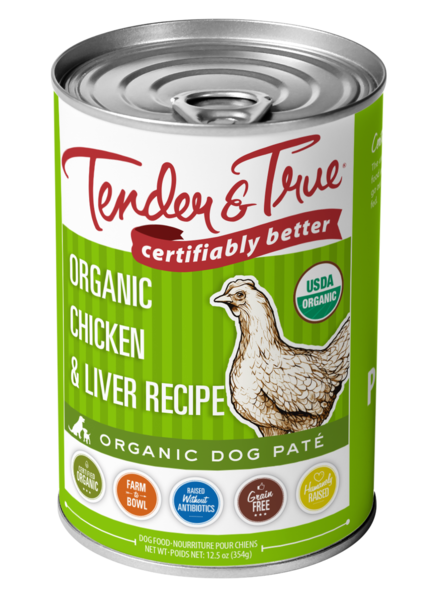ORGANIC CHICKEN & LIVER RECIPE PATE DOG FOOD