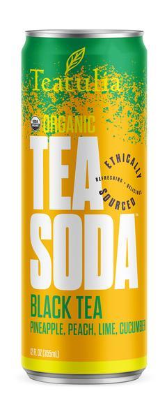 ORGANIC PINEAPPLE, PEACH, LIME, CUCUMBER BLACK TEA SODA