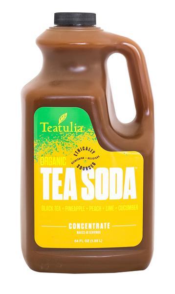 BLACK TEA, PINEAPPLE, PEACH, LIME, CUCUMBER TEA SODA CONCENTRATE