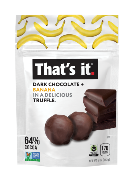 DARK CHOCOLATE + BANANA 64% COCOA TRUFFLE