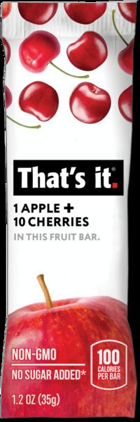APPLE + CHERRIES FRUIT BAR