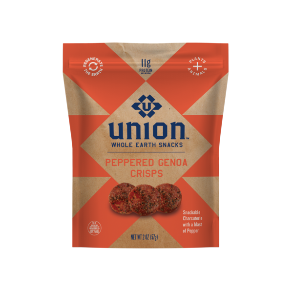 PEPPERED GENOA CRISPS SNACKABLE CHARCUTERIE WITH A BLAST OF PEPPER