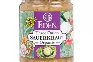 Three Onion Sauerkraut Label