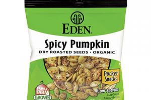 Organic Dry Roasted Spicy Pumpkin Seeds