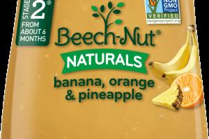 naturals banana, orange & pineapple jar · Beech-Nut Nutrition