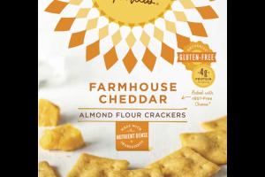 Farmhouse Cheddar Almond Flour Crackers