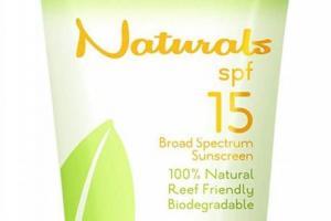 SPF15 Broad Spectrum 100% Natural Sunscreen