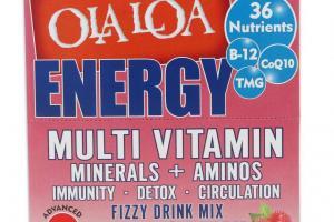 Energy Multi Vitamin Fizzy Drink Mix - Cran-Raspberry