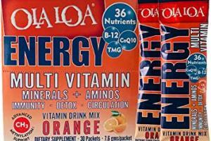 Ola Loa ENERGY Multi Vitamin Drink Mix: Orange flavor