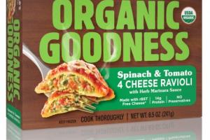Spinach & Tomato 4 Cheese Ravioli With Herb Marinara Sauce