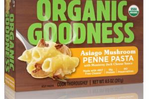 Asiago Mushroom Penne Pasta With Monterey Jack Cheese Sauce