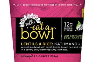 Eat A Bowl - Lentils and Rice