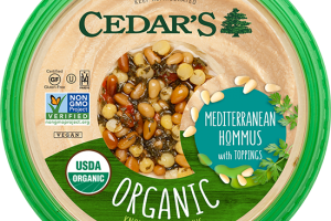 Organic Mediterranean With Toppings