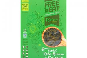 Green Lentil Kale Broccoli & Spinach Rotini