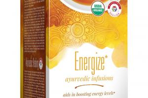 Organic Energize Ayurvedic Infusions Herbal Supplement
