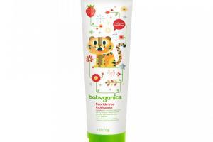 fluoride free toothpaste, strawberry