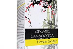Organic Bamboo Tea Lemon Ginger Flavor