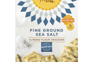 Fine Ground Sea Salt Almond Flour Crackers