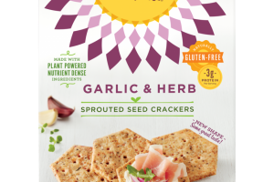 Garlic & Herb Sprouted Seed Crackers