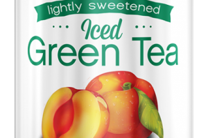 Lightly Sweetened Iced Green Tea -  Peach