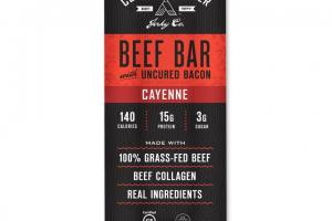 Cayenne Beef with Bacon Bar