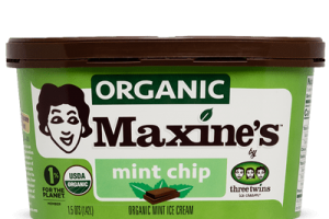 Maxine's organic mint chip ice cream