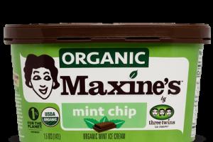 Maxine's organic mint chip ice cream