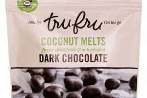 Coconut Melts Freeze-dried Fresh & Immersed In Dark Chocolate