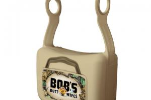 Unscented Flushable Wipes - Bob's Butt Wipes Tan Dispenser & 42 Ct Wipes