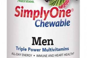 SimplyOne® Chewable Men Triple Power Multivitamins