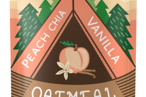 Oatmeal Fruit Squeeze - Peach Chia Vanilla