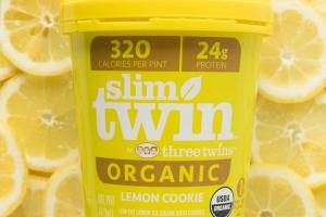Slim twin lemon cookie